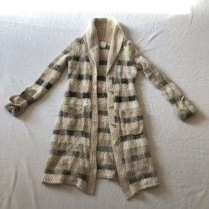 Anthropologie chunky knit cardigan sweater comfy